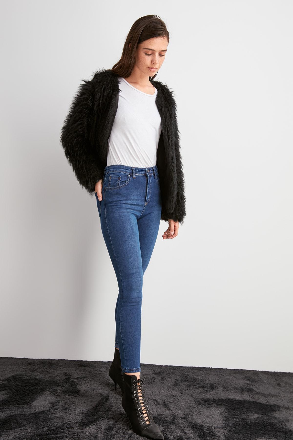 Trendyol High Waist Skinny Jeans TWOAW20JE0489