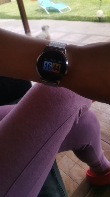 RUNDOING Q8 Smart Watch OLED Color Screen Smartwatch women Fashion Fitness Tracker Heart Rate monitor|Smart Watches|   - AliExpress