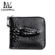 Louiswill Для мужчин кожаные кошельки сумки Короткие Кошельки