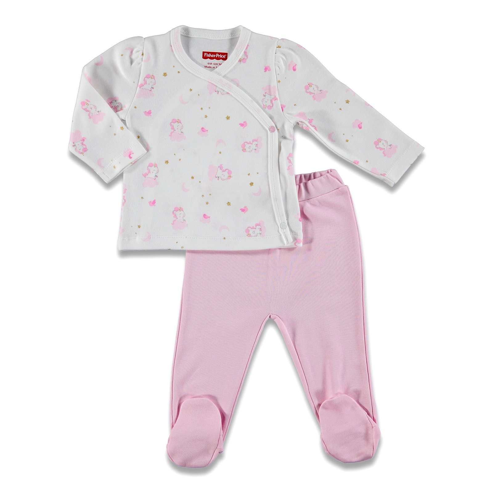 Ebebek Fisher Price Magical Unicorn Baby Bodysuit Footed Trousers