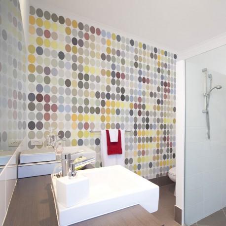 Photo Wallpaper-Colored Polka Dots