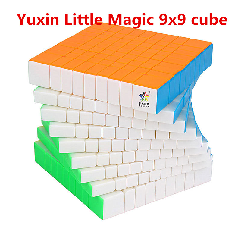 Yuxin Little Magic 9x9x9 Speed Cube Little Magic 9x9 Magic Cube Zhisheng 9x9 Puzzle Magic Cubo YUXIN 9x9 Cube Puzzle Toy