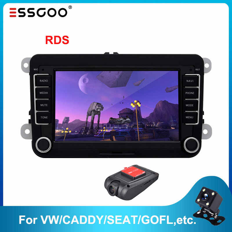 Essgoo Android 7 ''Autoradio Per Volkswagen Per Il VW Car Multimedia Player GPS Supporto di Navigazione Autoradio 2din Stereo Video MP5