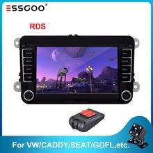 Esskoo Android 7 ''Radio samochodowe dla volkswagena dla VW samochodowy odtwarzacz multimedialny wsparcie samochodowa radiowa nawigacja GPS 2din wideo stereofoniczne MP5