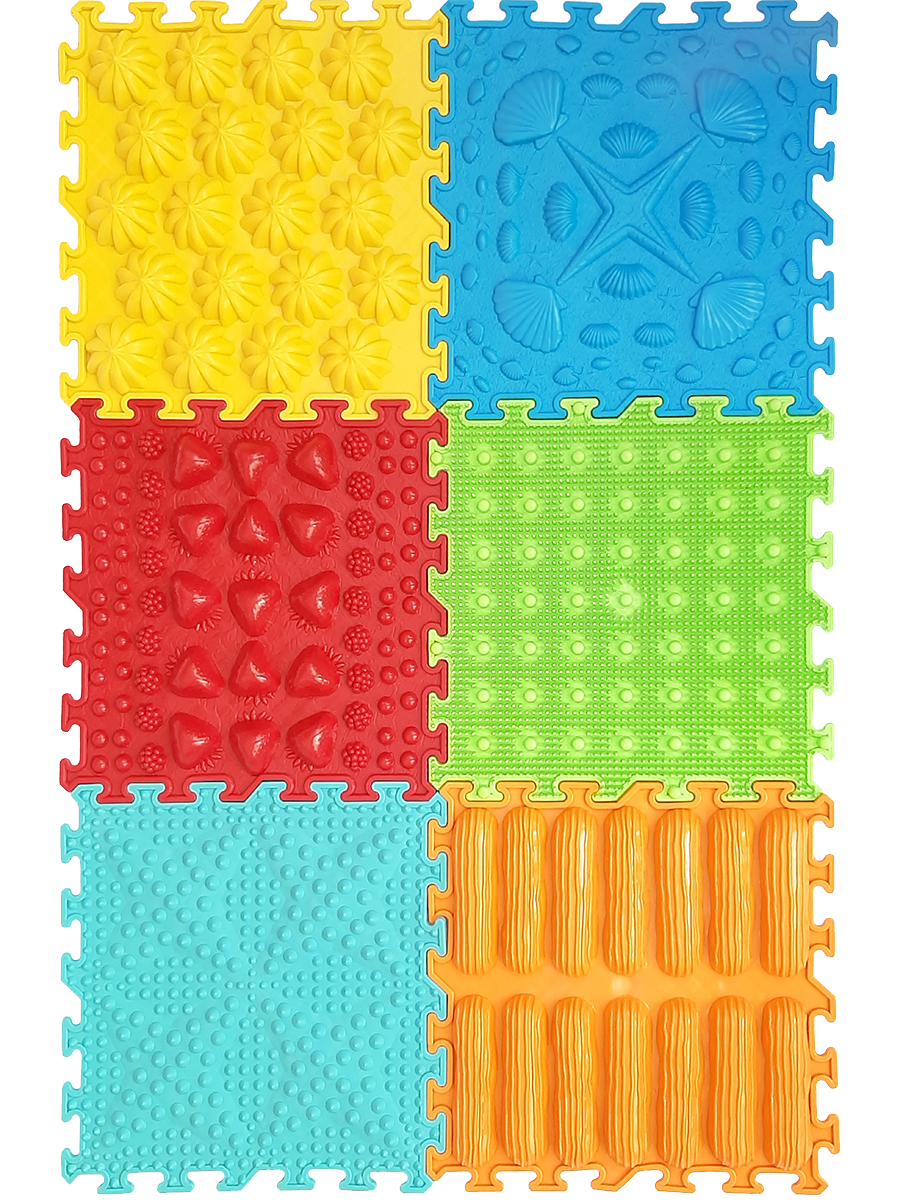 Massage Pad-puzzle Master Foot, Vyalmis, Set Of 6.7 Assorted, 6 пазлов
