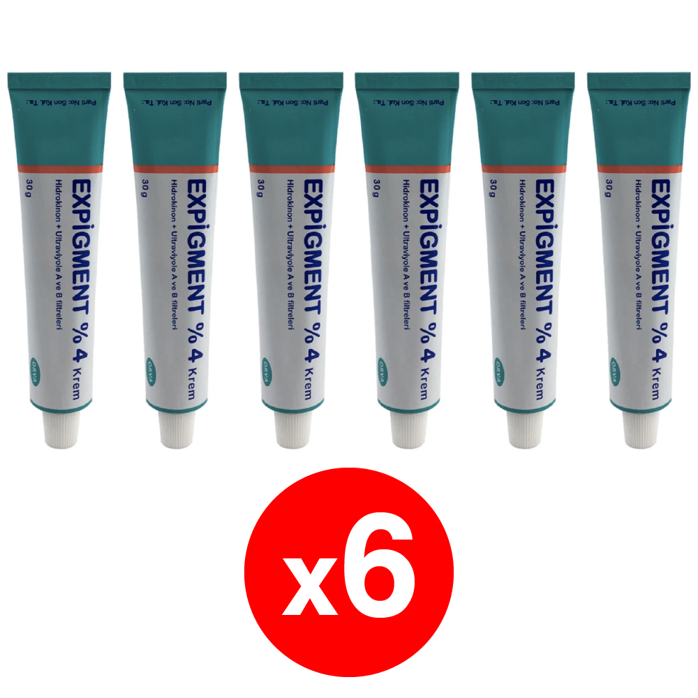Expigment 30g 1 Self Hydroquinone 4% Cream For Skin Bleaching Skin Lightening Whitening Skin Melasma Treatment-pack Of 6