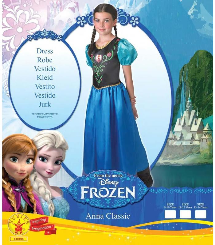 Costume Frozen Anna Size 9/10 Toy Store Articles Created Handbook