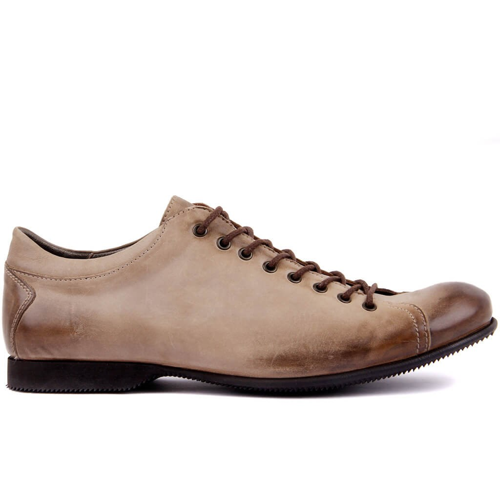 Sail Lakers-Sand Leather Men 'S Casual Shoes