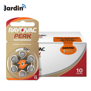 Image 1 - 60 Pieces Rayovac Peak Zinc Air Hearing Aid Batteries 13A  A13 13A 13 P13 PR48 Battery for BTE Hearing aids