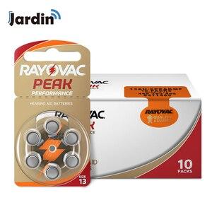 Image 1 - 60 sztuk Rayovac Peak cynkowe aparaty słuchowe 13A A13 13A 13 P13 PR48 bateria do aparatów słuchowych BTE