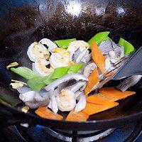 虾仁平菇炒时蔬 | 火锅剩余食材炒盘菜的做法图解6