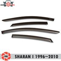 Fenster deflektor für Volkswagen Sharan ICH 1996 ~ 2010 regen deflektor schmutz schutz auto styling dekoration zubehör molding