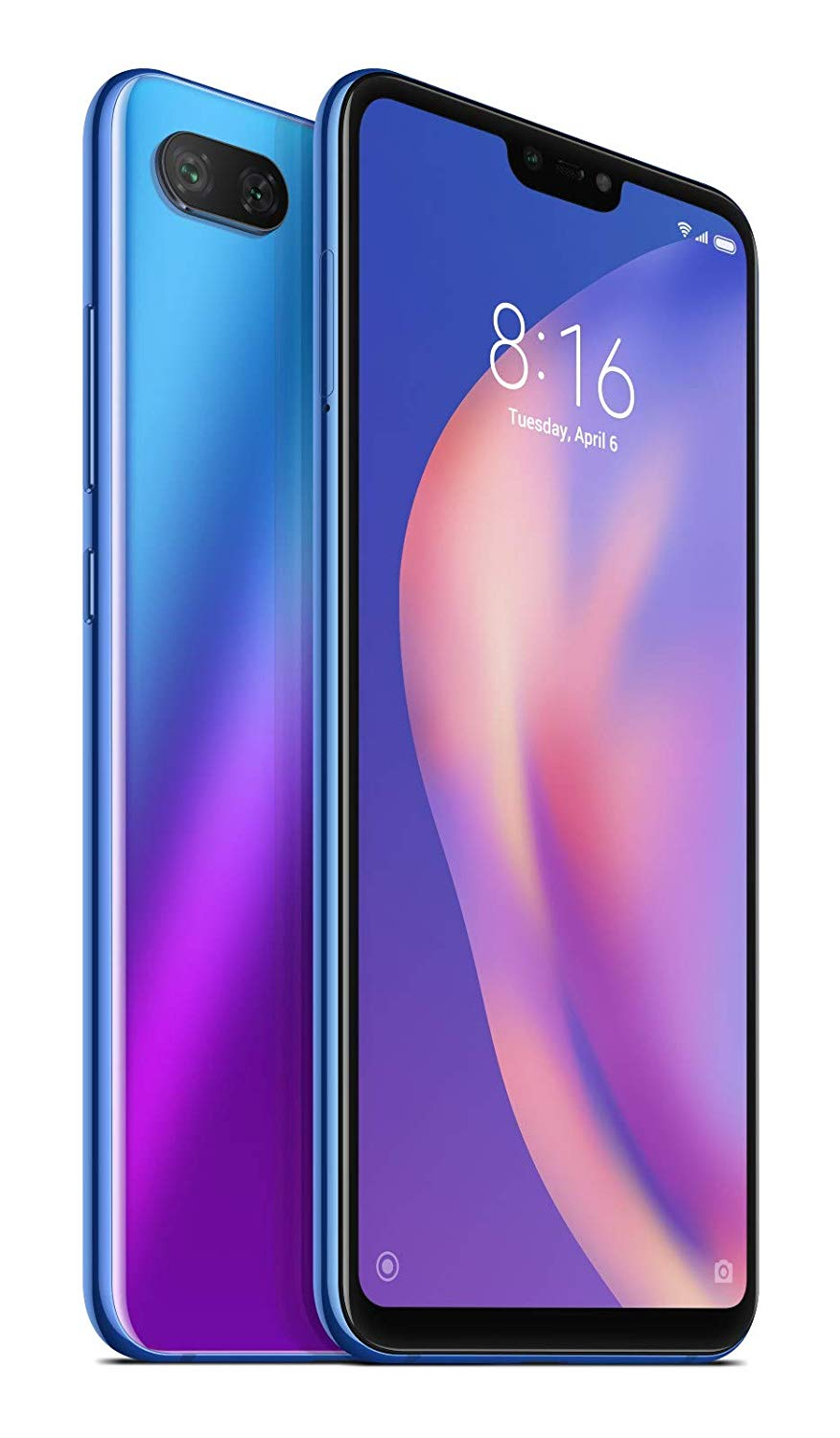 Xiaomi Mi 8 Lite, Global Version, Band 4G/LTE/WiFi, Dual SIM, 6 4GB Embedded Memory, 4GB Ram, (15,9 Cm (PA