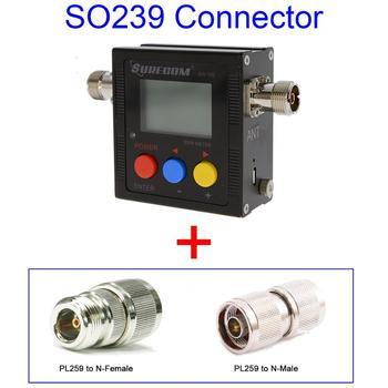 ¡SURECOM SW102-S V.S.W.R! Medidor + A Adaptador PL259 BNC (126479)
