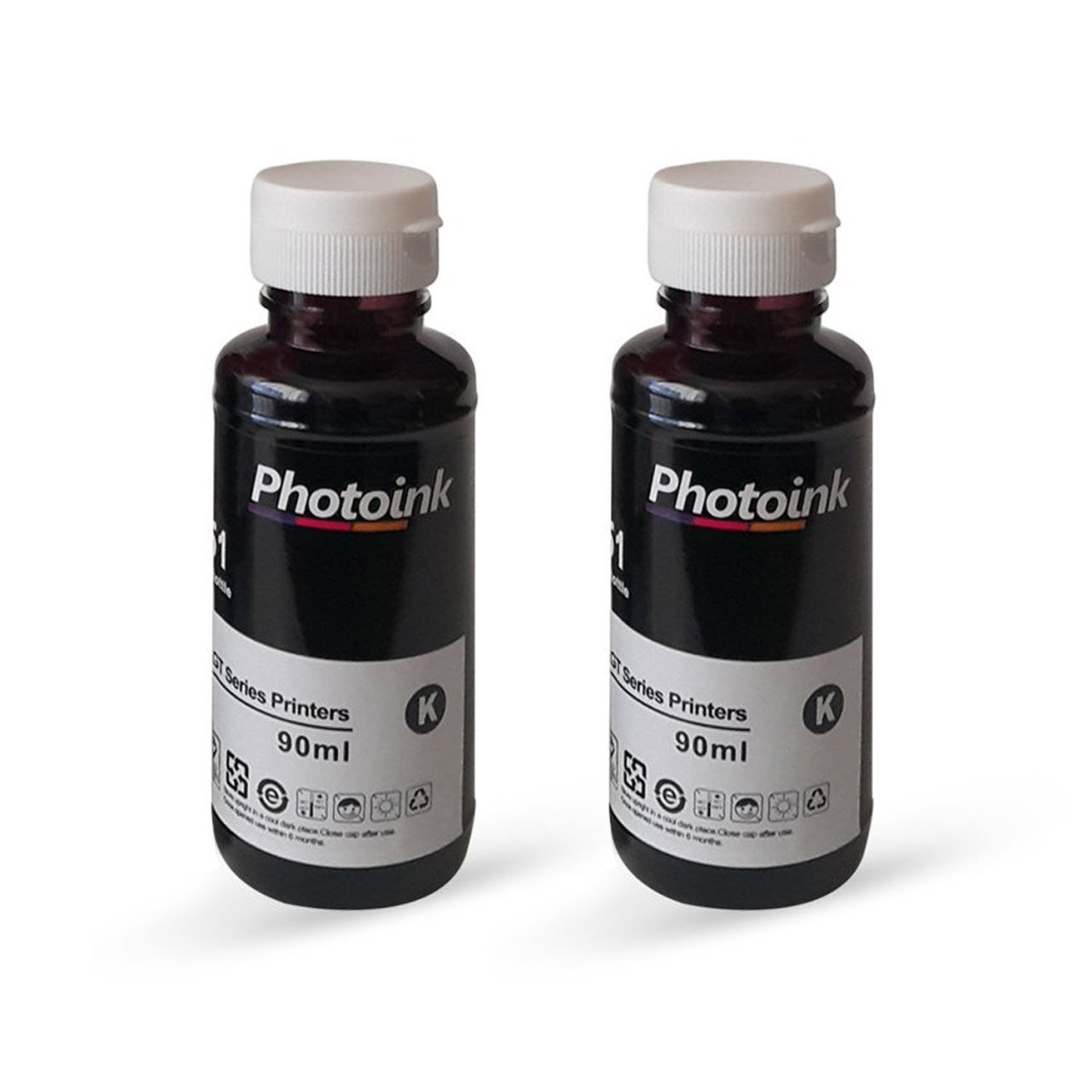 <font><b>Hp</b></font> <font><b>deskjet</b></font> <font><b>3639</b></font> 2 Pcs Black Photoink Ink image