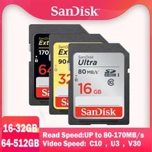 SanDisk Extreme Pro Memory Card SDHC/SDXC SD Card 32GB 64GB 128GB 256G Class10 U1 U3 4K 16gb 512G memoria Flash Card for Camera