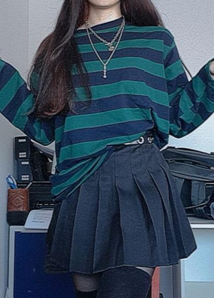 Harajuku Oversized striped t-shirt photo review