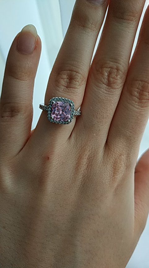 Zircon Engagement Ring and Stud Earring photo review