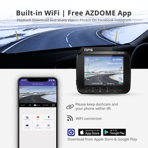 "Image 5 - AZDOME GS63H 4K 2160P Dash kamera WiFi dahili GPS araba Dashboard kaydedici 2.4 ""LCD, WDR, gece görüş, destek arka kamera"