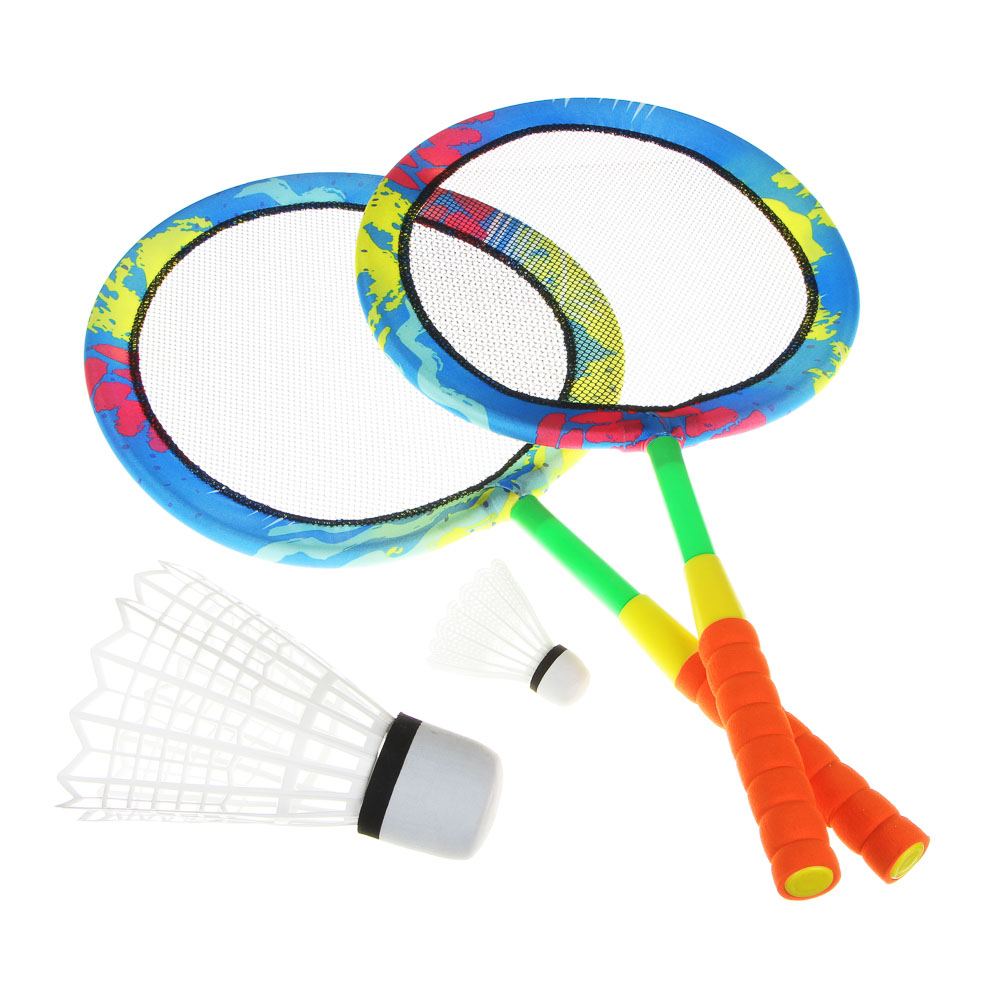 BADMINTON BEACH, 64, 5X31SM, 2 VOLANA, RUBBER, NYLON, POLYESTER, GAME FOR THE YARD, LOVE AND RACKS, BADBINTON, SUMMER GAME
