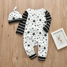 Infant Clothing Romper Newborn Baby-Boy Jumpsuit Long-Sleeve Cotton And 2pcs Autumn Print