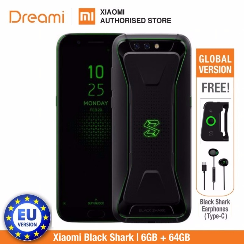 Global Version Xiaomi Black Shark 64GB ROM 6GB RAM Gaming Phone (Official Rom) Blackshark Smartphone Mobile