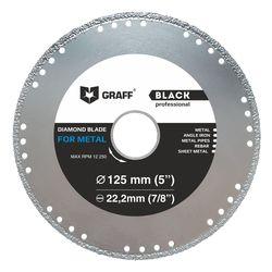 Отрезной алмазный диск по металлу 125 мм GRAFF Black для УШМ (болгарки)