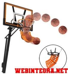 Devolvedor de balones para canasta de baloncesto. Sistema de retorno de balones de basket.