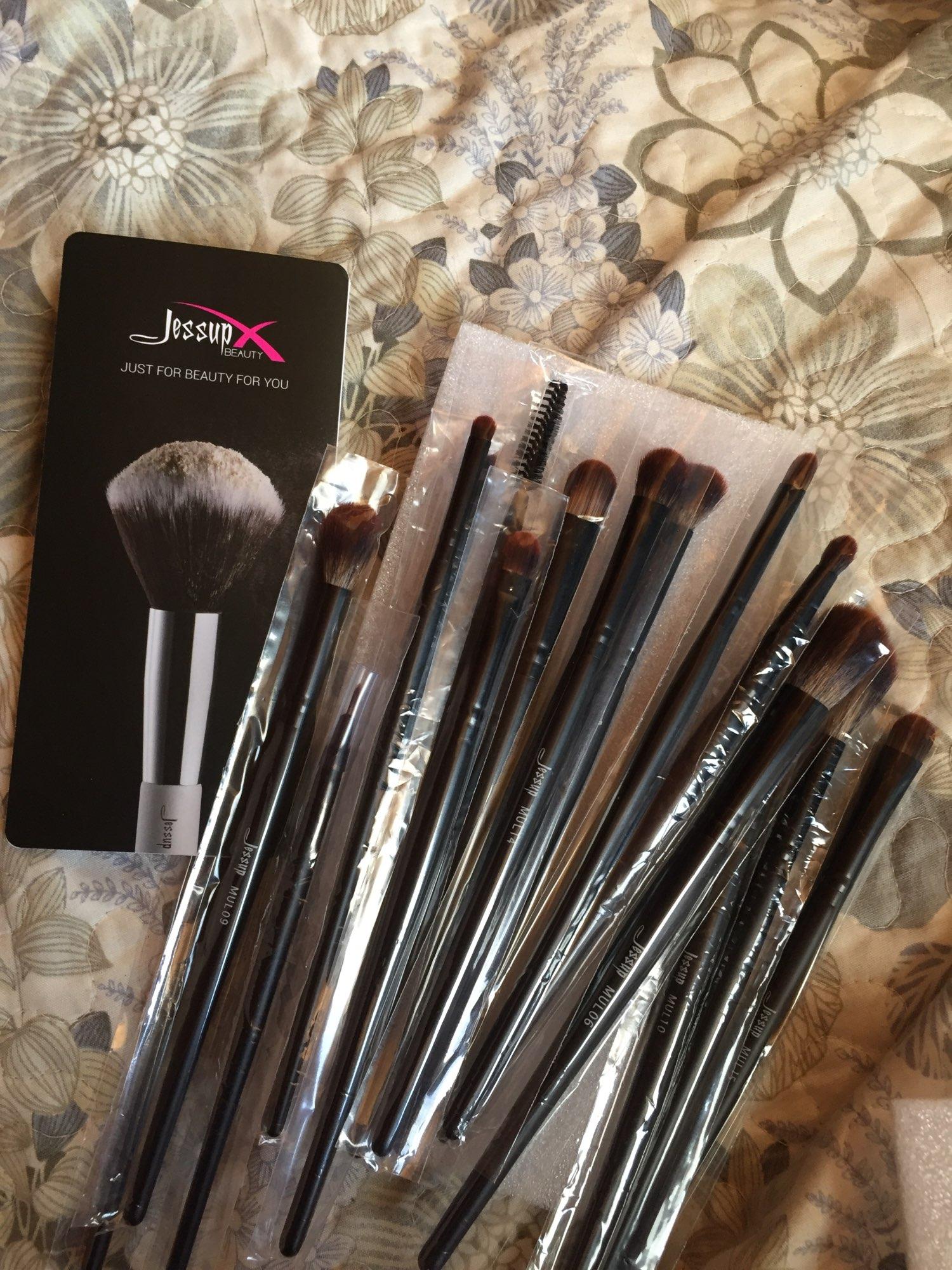 Jessup New Arrival Makeup brushes brushes Phantom Black 3-21pcs Foundation brush Powder Concealer Eyeshadow Synthetic hair reviews №2 337682