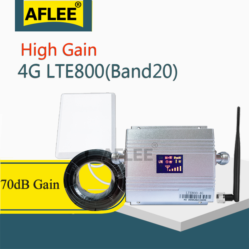 Band20 LTE 800MHz 4G Network Mobile Signal Booster 800Mhz 4g Cell Phone Amplifier 4G Cellular Signal Repeater GSM 4g Antenna