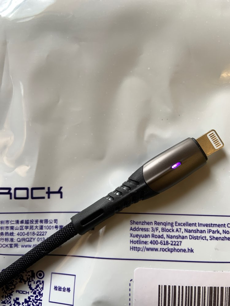 ROCK Zinc Alloy Usb Cable For iPhone Xs max Xr X 8 7 6 plus 6s 5 ipad Super Fast Charge Cables Mobile Phone Charger Cord Data|Mobile Phone Cables| |  - AliExpress