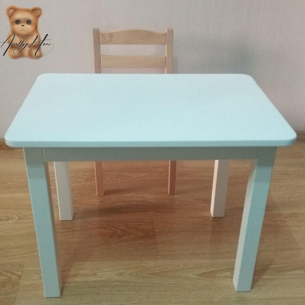 Комплект Стол + стул ApollyHome для детей KDMWD01- KDMWW01 из дерева