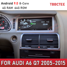 Android 9,0 4G 64G Für Audi A6 Q7 2005 ~ 2015 MMI 2G 3G Auto Multimedia player GPS Navigation Radio stereo touch screen WiFi