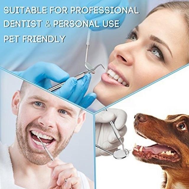 6Pcs Dental Mirror Sickle Tartar Scaler Teeth Pick Spatula Dental Laboratory Equipment Dentist Oral Care Tooth Cleaning Tools