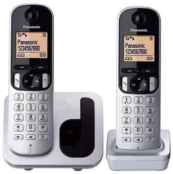 Panasonic KX-TGC210-Teléfono fijo inalámbrico LCD identificador de llamadas agenda de 50 números de tecla de navegación