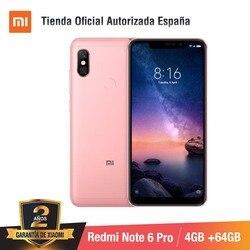 [Wersja globalna dla hiszpanii] Xiaomi Redmi Note 6 Pro (pamięci wewnętrzne de 64 GB, pamięci RAM de 4 GB, Cuatro camaras con IA) Smartphone 5