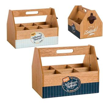 2020 new promotion wooden storage box for beers or other drinks with opener and the phrase dad INCLUENCER FREE SHIPPING