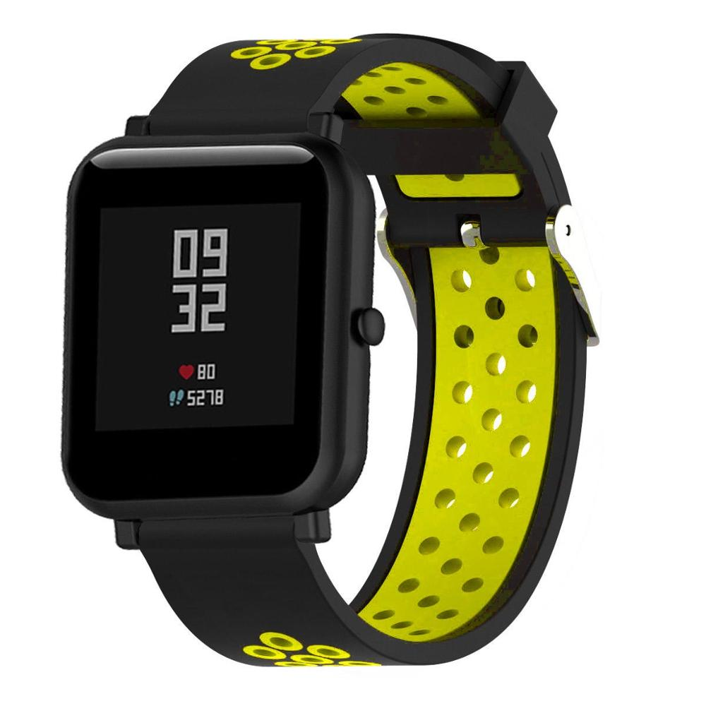 Correas pulsera de recambio para Xiaomi Amazfit BiP Amazfit GTS silicona flexible de colores impermeable y suave cierre de metal 1