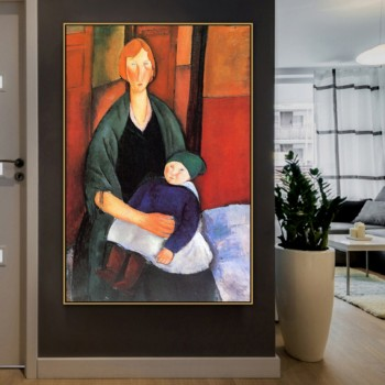 Amedeo Clemente Modigliani Old Famous Master Artist Maternité Canvas Painting Poster Print for Room Wall Art Decor Wall Art image