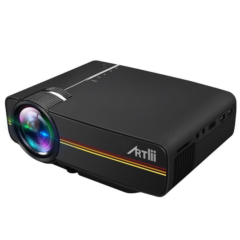 Artlii Mini projecteur 1800 Lumen projecteur multimédia grand écran Support de Projection USB HDMI 1080p projecteur Home cinéma
