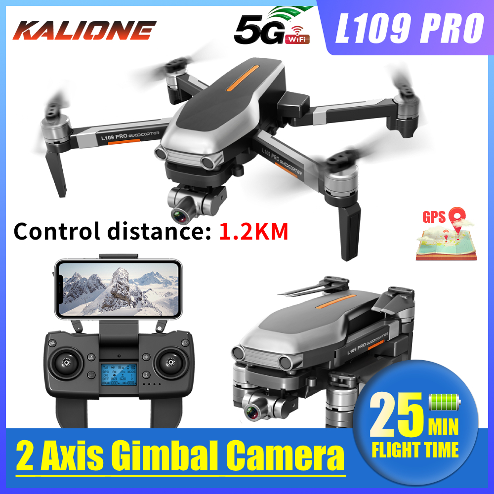 L109 PRO GPS Drone 4K with HD Camera 2 AXIS Gimbal 5G WIFI profissional quadrocopter dron Brushless drones 1 2KM SD Card VS L109