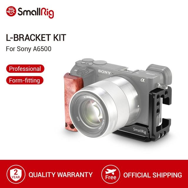SmallRig A6500 L Bracket CageสำหรับSony Alpha A6500 แผ่นด้านข้าง + Arca Baseplate Lแผ่นไม้hand Grip  2074