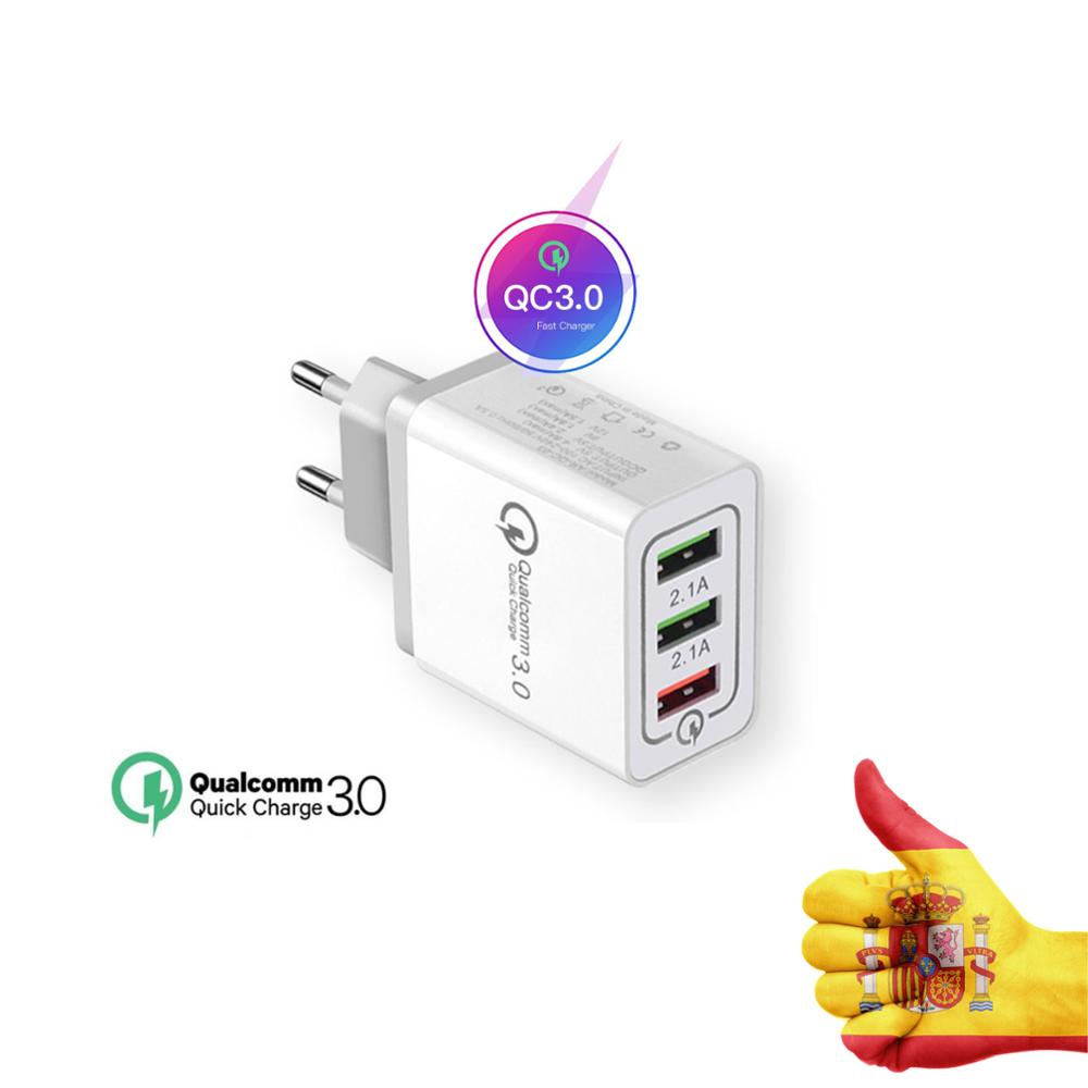 <font><b>USB</b></font> Charger Load's Fast 3,<font><b>0</b></font> wall plug adapter for Samsung iPhone iPad Xiaomi LG Sony tablet portable chargeur telephone image