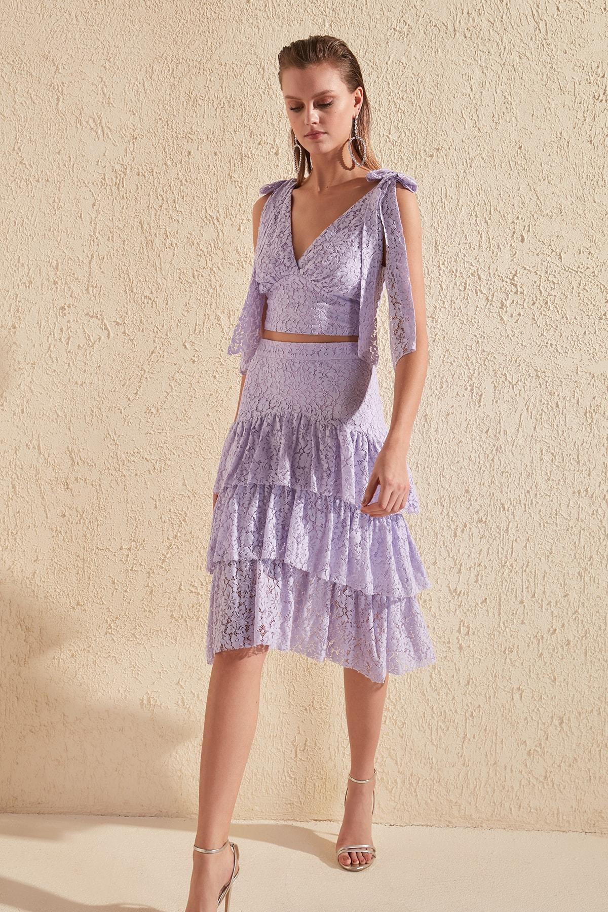 Trendyol Lace Skirt TPRSS20ET0141