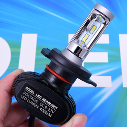 1pc de la lámpara del coche LED H1 H3 H4 H7 H8 H11 9005 de 9006 murió S1