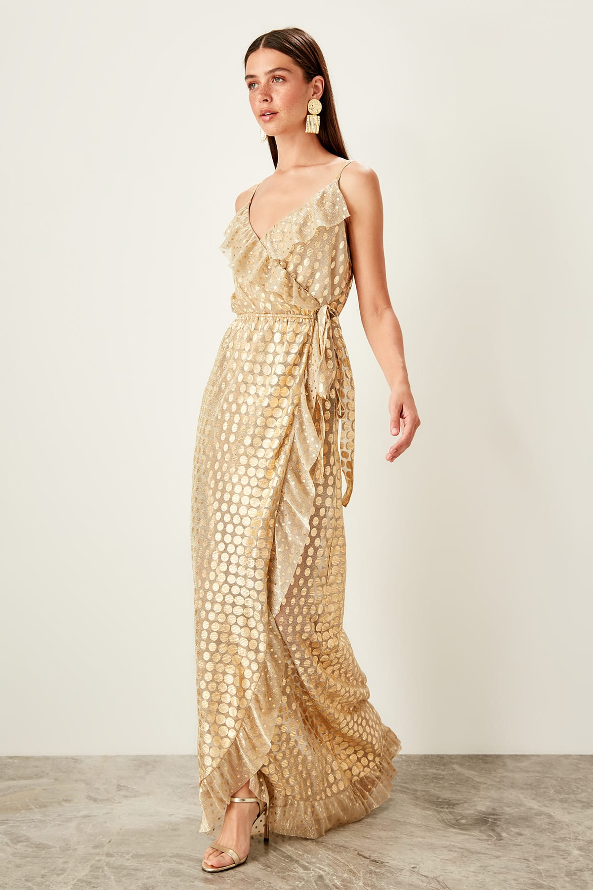 Trendyol Polka Dot Evening Dress TPRSS19AE0062