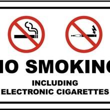 Не курить, включая электронные сигареты знак