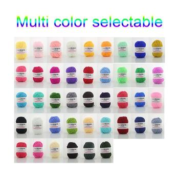 4 Shares Combed Milk Cotton Yarn Comfortable Wool Blended Yarn Apparel Sewing Yarn Hand Knitting Scarf Hat Yarn image