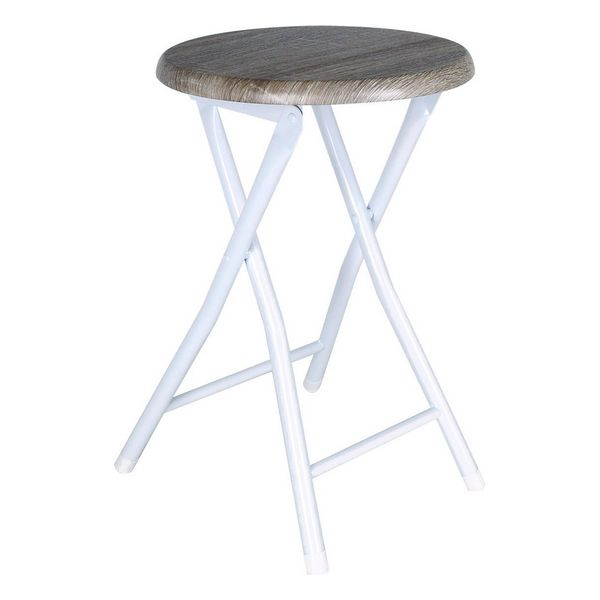 Folding Stool Confortime Wood Metal (30 X 45 Cm)