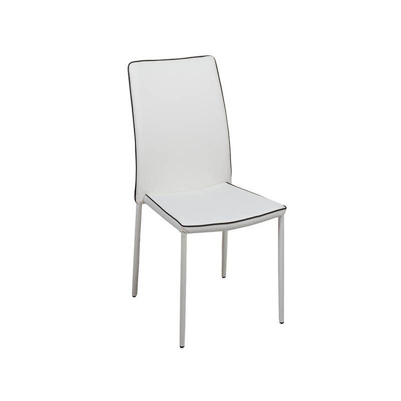 Dining Chair Pvc Metal White (44x42x96 Cm)